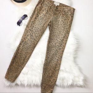 Current/Elliott Stiletto Leopard Skinny Jeans